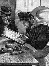 Британский моряк за вышивкой, 1867 г.