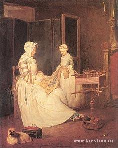 Жан-Батист Шарден «Трудолюбивая мать», 1740 г.